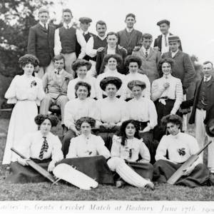 Ladies v Gents Cricket Match, Bosbury, 1909