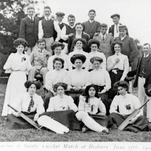 Ladies v Gents Cricket Match, Bosbury, 1909