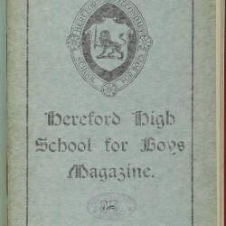 Hereford High School For Boys Magazine Vol 6 No 3_Summer Term 1920