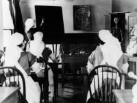 Nelson Hospital, Merton Park: Nurses attending a lecture