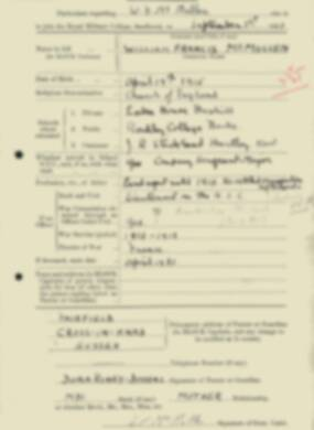RMC Form 18A Personal Detail Sheets Feb & Sept 1933 Intake - page 245