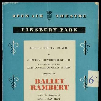 Finsbury Park Open Air Theatre, London, July 1952