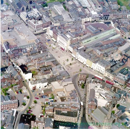 High Town, Hereford, aerial view c1976