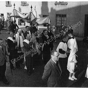 St Mary's Roman Catholic Church, Corpus Christi procession, early 1950s.
