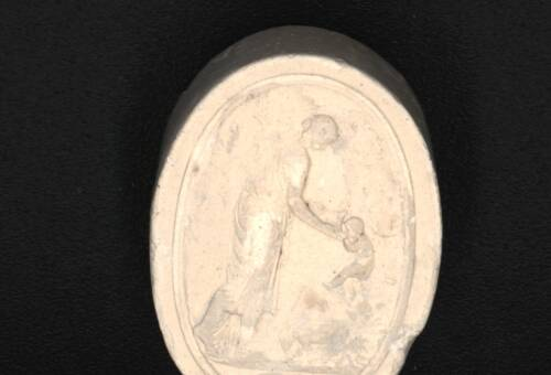 Victorian Intaglio in Plaster, Mother and Child