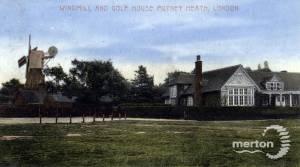 Wimbledon windmill and golf clubhouse, Wimbledon Common