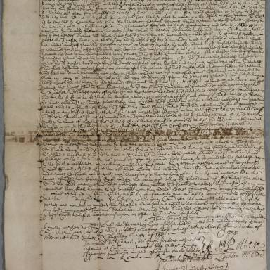 Indenture between Walter Potter, chirurgian apothecary and Lachlan McEuan