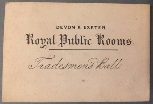 Devon & Exeter Royal Public Rooms, Exeter, 19th Century
