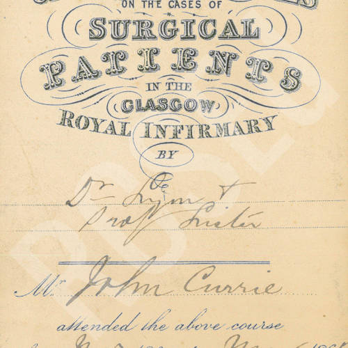 Clinical Lectures on the Cases of Surgical Patients in the Glasgow Royal Infirmary
