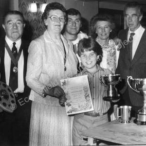 Chapeltown Horticultural  Show, Newton Hall 1980s  b