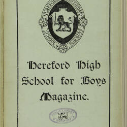 Hereford High School For Boys Magazine Vol 5 No 2_Spring Term 1919