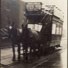 Horse-Drawn Tram at the Pier Head.