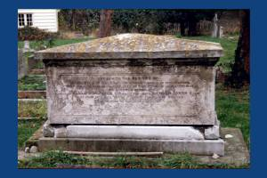 Gravestone of Nelson's gardener.