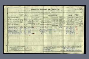 Stanton F Census 1911 Courthope Villas