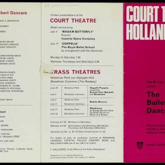 Court Theatre, Holland Park