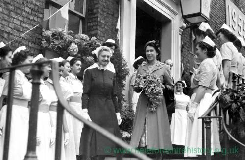 Queen Elizabeth II - nurse school visit?