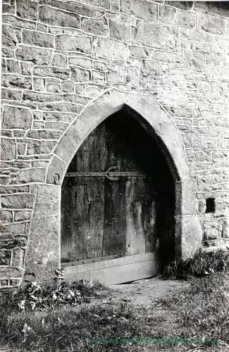 Yarpole church tower door