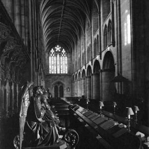338 - Interior view of Hereford Cathedral taken from choir stalls