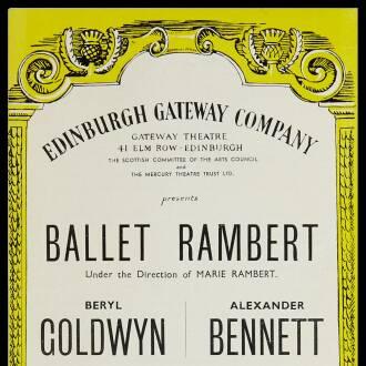 Gateway Theatre, Edinburgh, February 1955