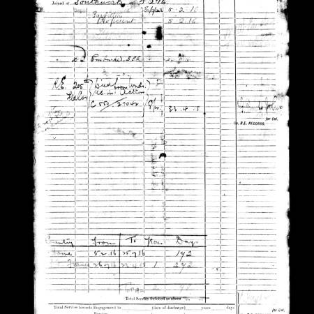 Service Papers - Statement of Services Page