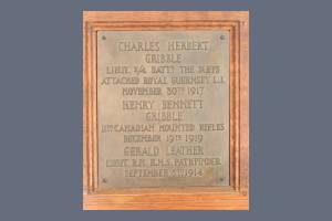 Memorial Plaque - Gribble & Leather