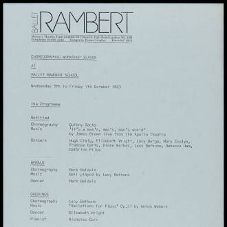 Rambert School, Twickenham, London, October 1983