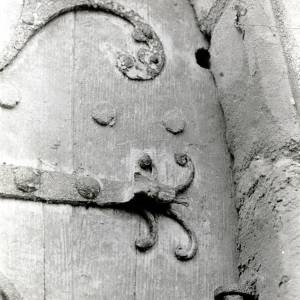 Dore Abbey - Detail of Exterior North Door of Abbey, 1930