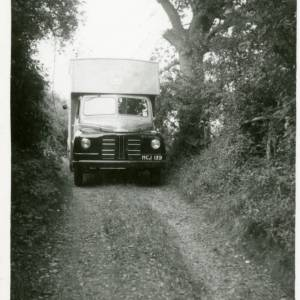 Mobile Library in country lane
