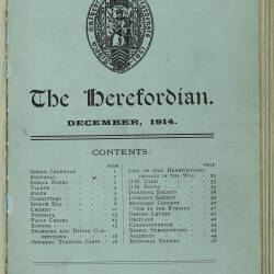The Herefordian No 77_December 1914