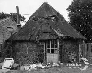 Base of Mitcham Postmill on Mitcham Common