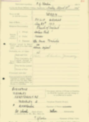 RMC Form 18A Personal Detail Sheets Aug 1935 Intake - page 212