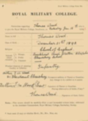 RMC Form 18A Personal Detail Sheets Jan 1915 Intake - page 383