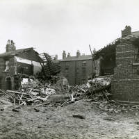 Brasenose Road, bomb damage, Blitz