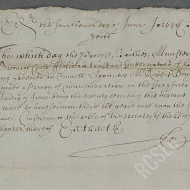Extract Act of the Council of Heriots Hospital