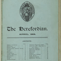 The Herefordian No 78_April 1915