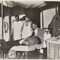 Henry Wade in bed at Red Cross Hospital, Giza