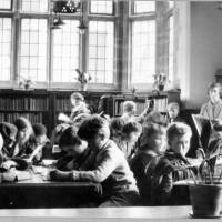 Teacher and Class visit Waterloo Carnegie Library