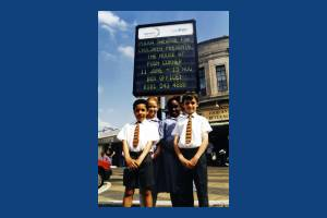 Wimbledon Station, Electronic notice board