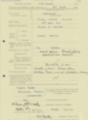 RMC Form 18A Personal Detail Sheets Aug 1935 Intake - page 121