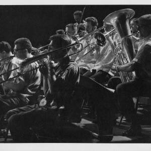 458 - Part of brass band playing at concert