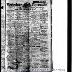Berkshire Chronicle Reading 09-1918