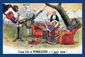 Satirical Postcard sold at Wimbledon Camp: First World War