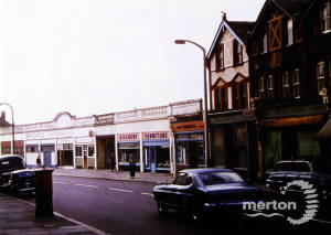 London Road, Mitcham: Looking from Tooting Station