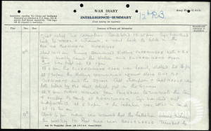War Diary Extract for 12th Battalion, Rifle Brigade on 12 July 1916