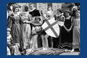 Coronation Celebrations: Procession float passing through Mitcham, 1953