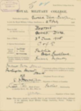 RMC Form 18A Personal Detail Sheets Feb & Aug 1923 Intake - page 13