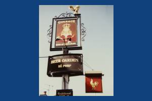 Pub Sign, The King of Denmark, Ridgway, Wimbledon