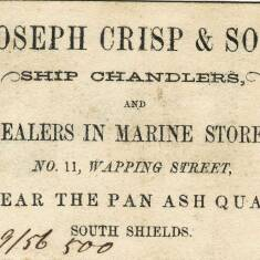 Joseph Crisp and Son, Ship Chandlers