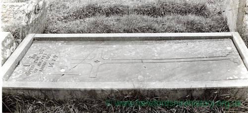 Welsh Newton Church, Kemble Grave, 1929