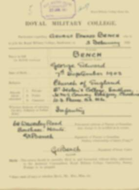 RMC Form 18A Personal Detail Sheets Feb & Sept 1921 Intake - page 10